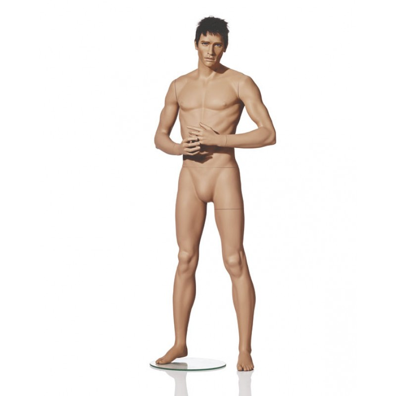 MALE MANNEQUIN - NATURALISTIC - HANDS IN FRONT - HINDSGAUL