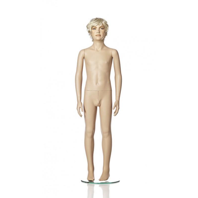 Hindsgaul naturalistisk dreng. Højde 140 cm