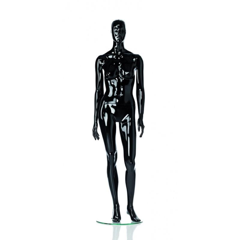 Hochglanz Schwarz Damenfigur Lin – Spielbein links – Hindsgaul