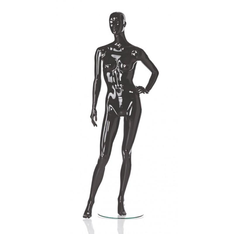 Hochglanz Schwarz Damenfigur Lin – Spielbein rechts – Hindsgaul