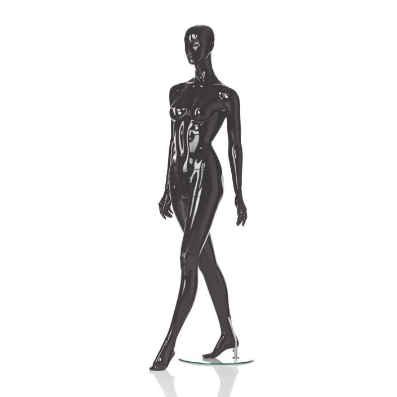 HIGH GLOSS BLACK FEMALE MANNEQUIN - WALKING – HINDSGAUL