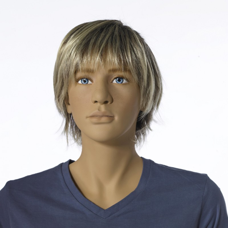 Styled wig for tween mannequins