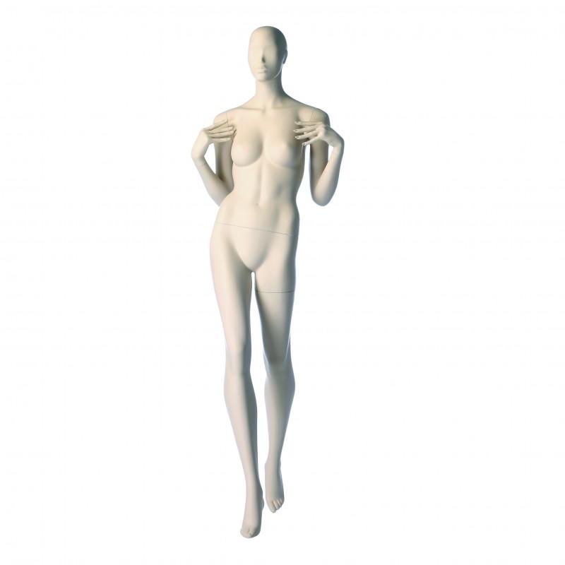 ABSTRACT FEMALE MANNEQUIN - CATWALK – HANDS ON SHOULDERS - DARROL