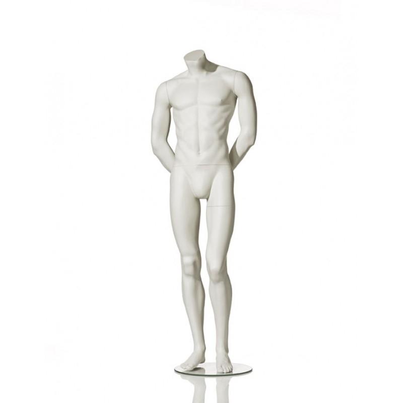 MALE MANNEQUIN – HEADLESS - ARMS BEHIND BAG – HINDSGAUL