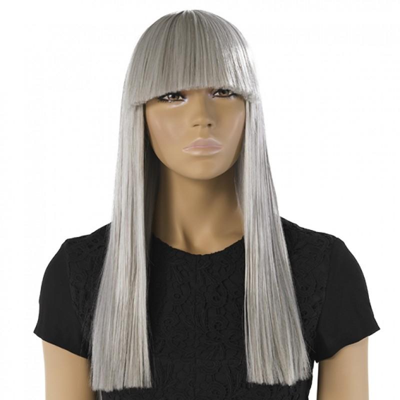 Ebba - grå paryk til damemannequin